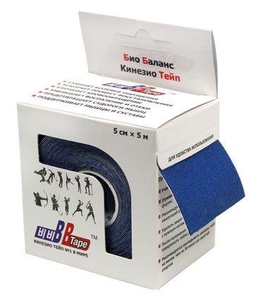 Кинезио тейп BBTape™ 5см × 5м / Тёмно-синий
