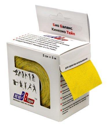 Кинезио тейп BBTape™ 5см × 5м / Жёлтый