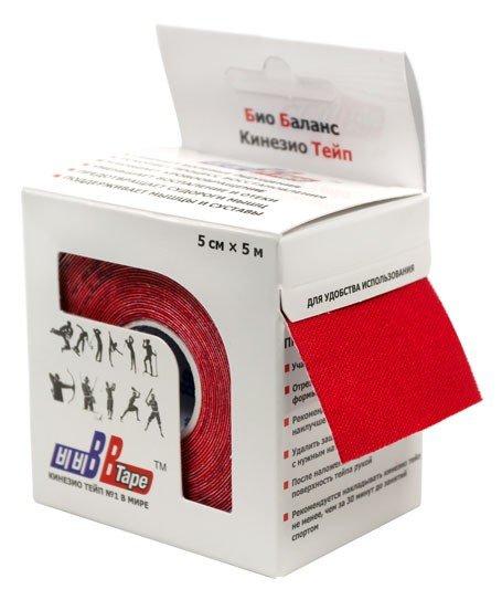 Кинезио тейп BBTape™ 5см × 5м / Красный
