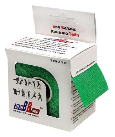 Кинезио тейп BBTape™ 5см × 5м / Зелёный