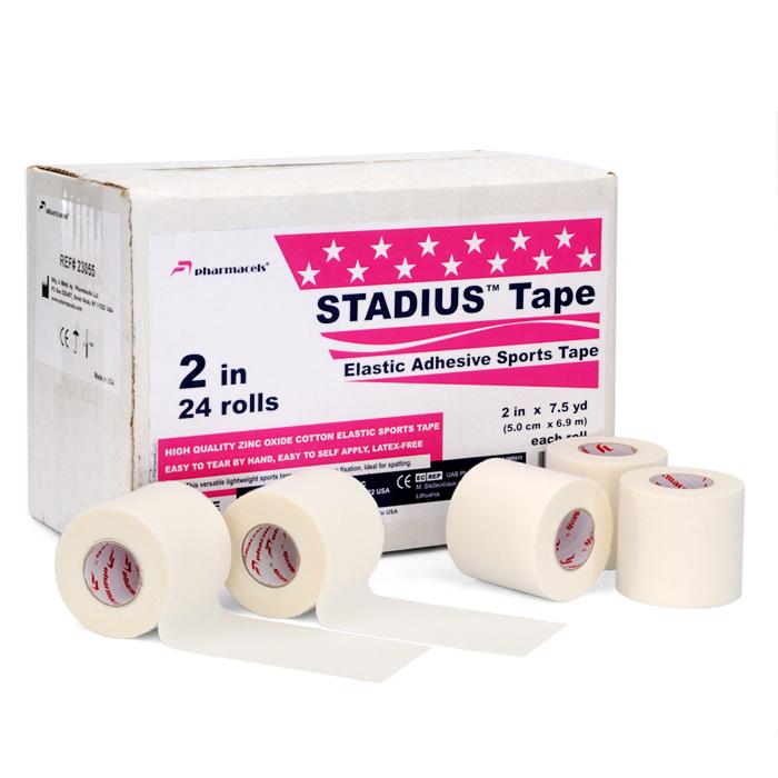 """Код 23057 Тейп """"Pharmacels""""  STADIUS   7,5 см.х 6,9 м. 1/16 рул.  Белый"""