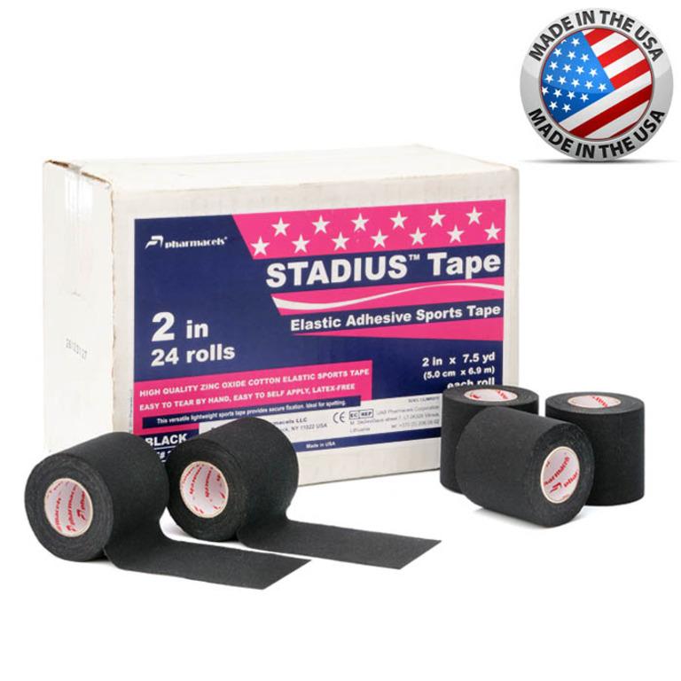 """Код 23058 Тейп """"Pharmacels""""  STADIUS   7,5 см.х 6,9 м. 1/16 рул. Черный"""