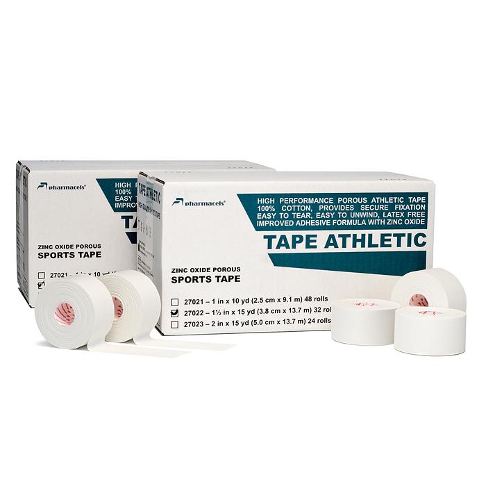 "Код 27021 Тейп ""Pharmacels"" атлетический пористый 2,5 см.х13,7 м. 1кор./48 рул."