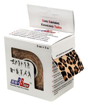 Кинезио тейп BBTape™ 5см × 5м леопард