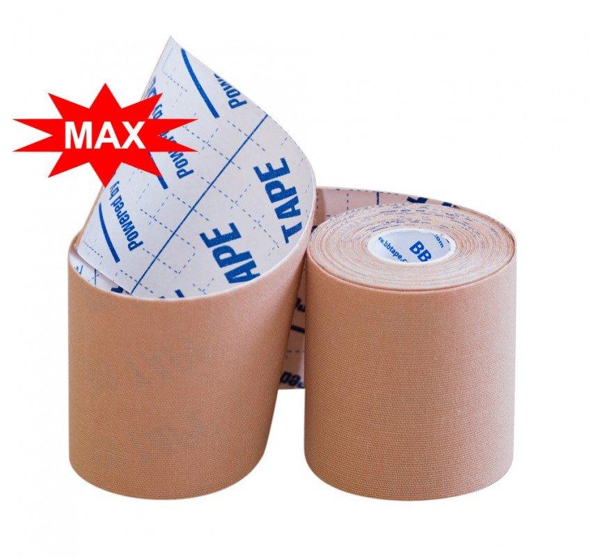 Кинезио тейп BBTape MAX с усиленным клеем 7,5см × 5м / Бежевый