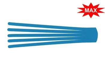 Кинезио тейп преднарезанный BB EDEMA STRIP МАХ с усиленным клеем 5 cм x 25 см / Голубой