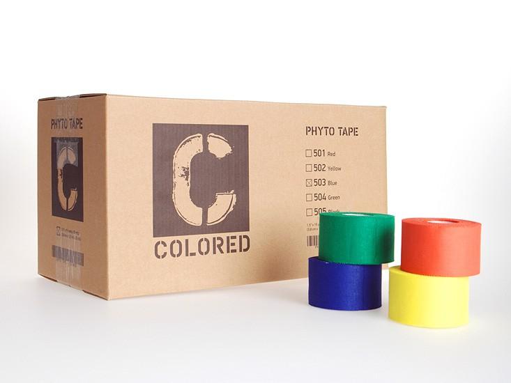 """Код 505/503/501 Тейп цветной """"PhytoTape"""" 3,8 см.х13,7 м. / 32 рул., черный"""