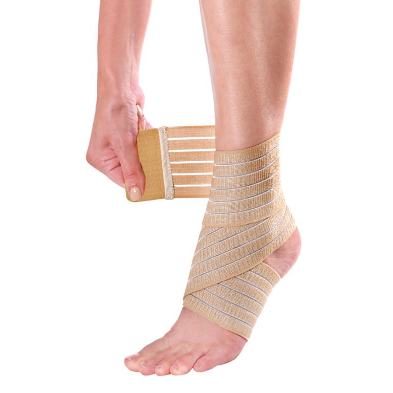 Код 51401 Эластичный бинт на голеностопный сустав Ankle Wrap, Pharmacels (7,5 x 60 см) (Аналог Mueller 4590)