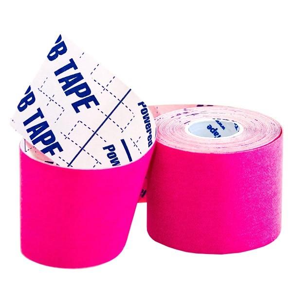 Кинезио тейп BBTap ICE 5см × 5м / Искусственный шёлк (вискоза) / Розовый