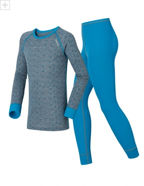 ODLO Комплект термобелья ДЕТСКИЙ футболка с длинным рукавом + рейтузы WARM KIDS