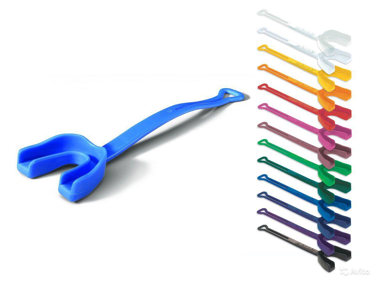Код 131031 Защитная капа для зубов с ремешком, 1 шт., темно-синяя