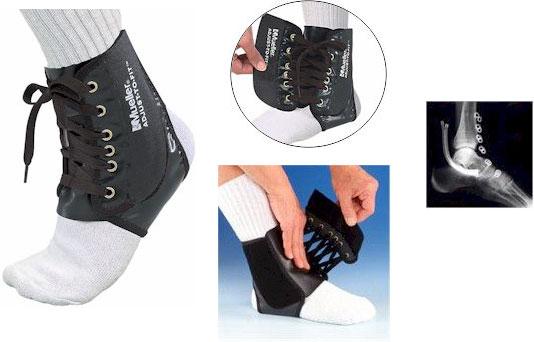 Код 4571 Бандаж на лодыжку регулируемый, подходит на обе ноги, 1 шт., черный
