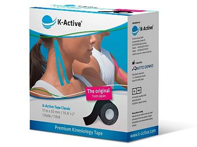 Тейп K-Active Classic 5см х 17м черный