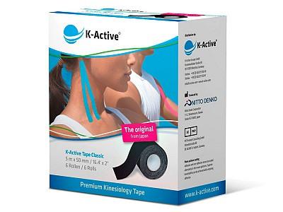 Тейп K-Active Classic 5СМ Х 5М черный