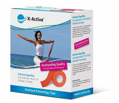 Тейп K-Active Elite 5см х 5м оранжевый