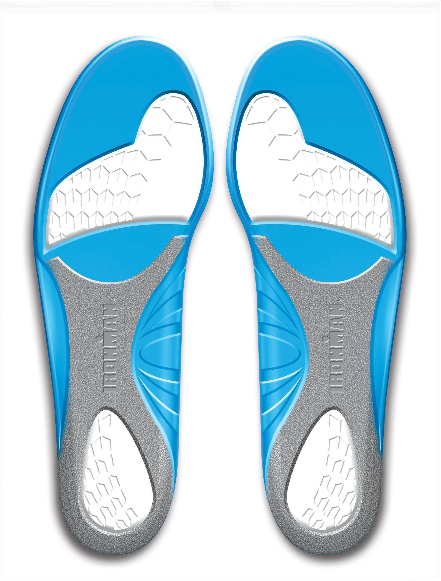 Код 60011 Ironman Performance Gel Tripple Density Анатомические стельки из термопластичного геля для максимального сохранения энергии (до44%) стопы от нагрузок, р-р 40-44