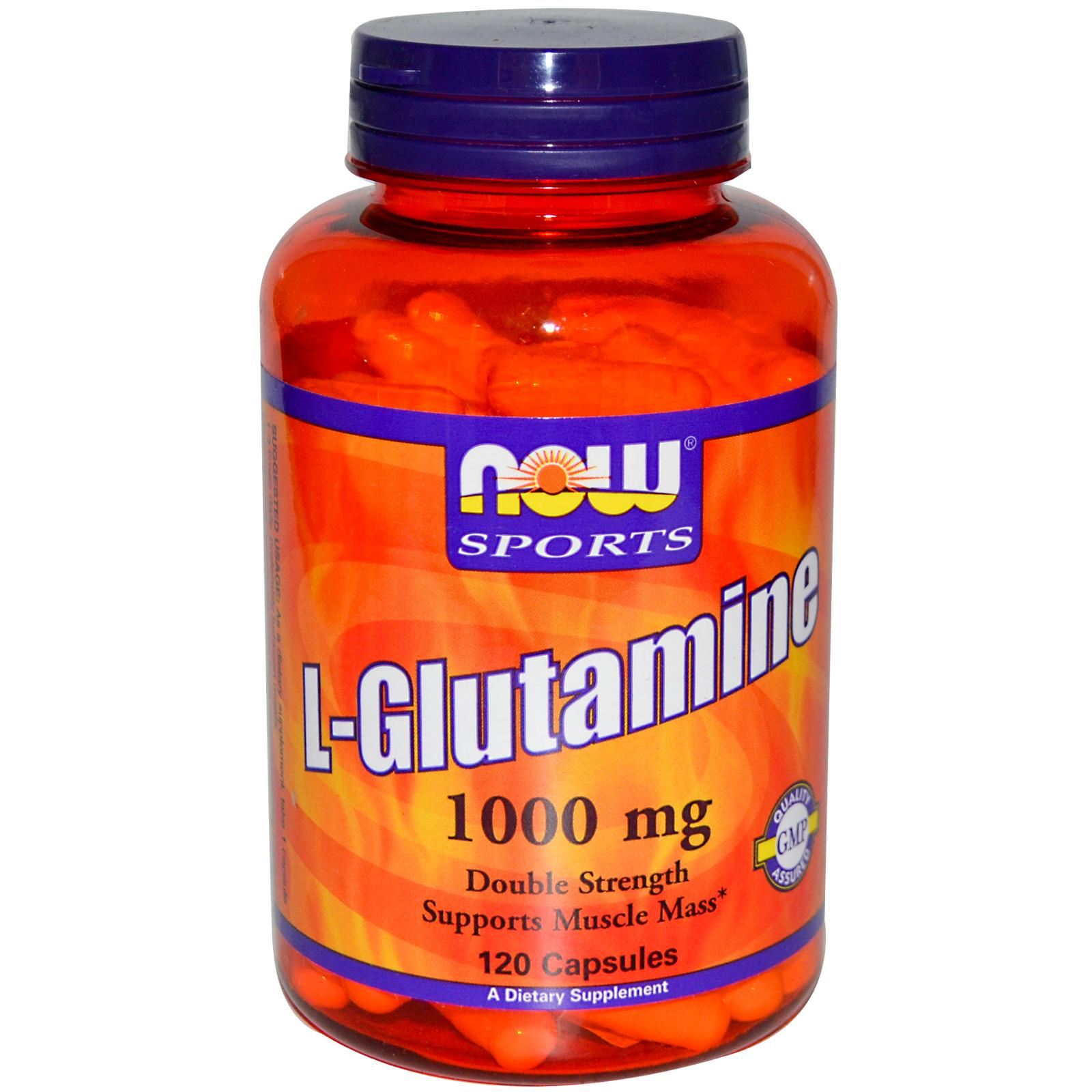 NOW L-Glutamine 1000 мг 120 капсул