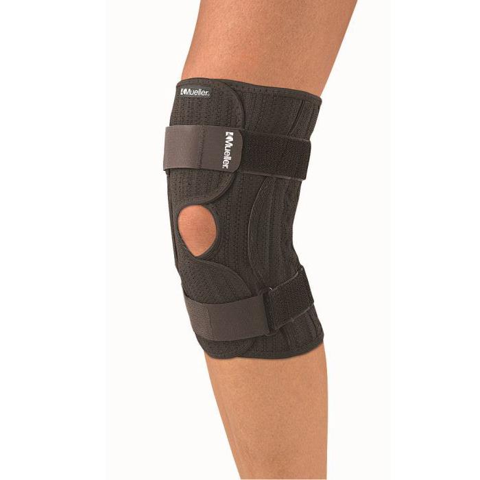 Код 4540 Бандаж на колено эластичный, 1 шт., черный, SM/MD, LG/XL