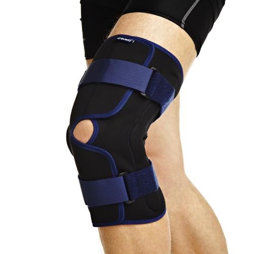 Код  RKN–203 Бандаж на колено ортопед. с метал. шарнирами, разъемный, S,M,L,XL, ХХL