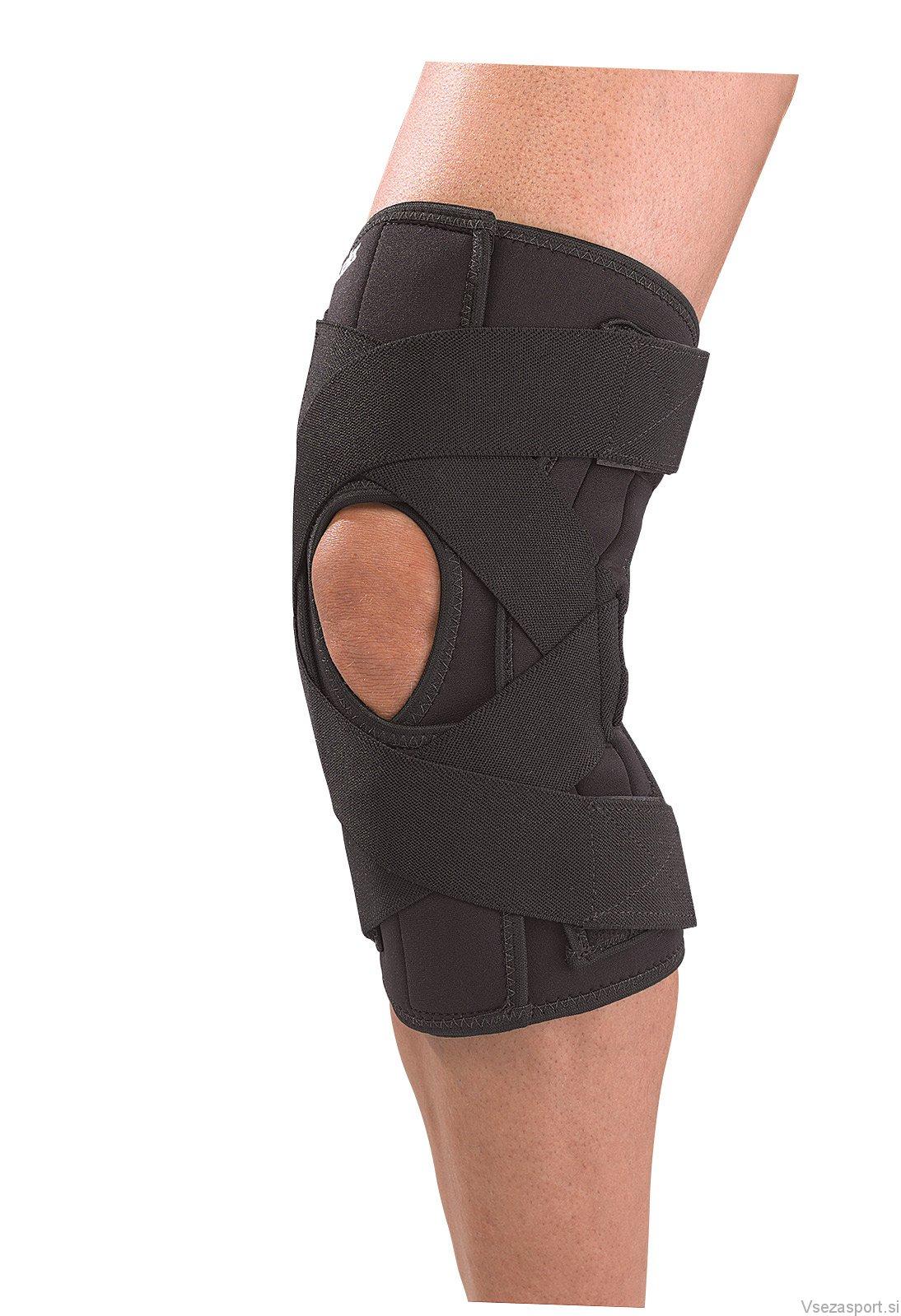 Код 230 Бандаж-обертывание на колено, де люкс, регулируемый, 1 шт., черный, SM,MD,LG,XL,XXL