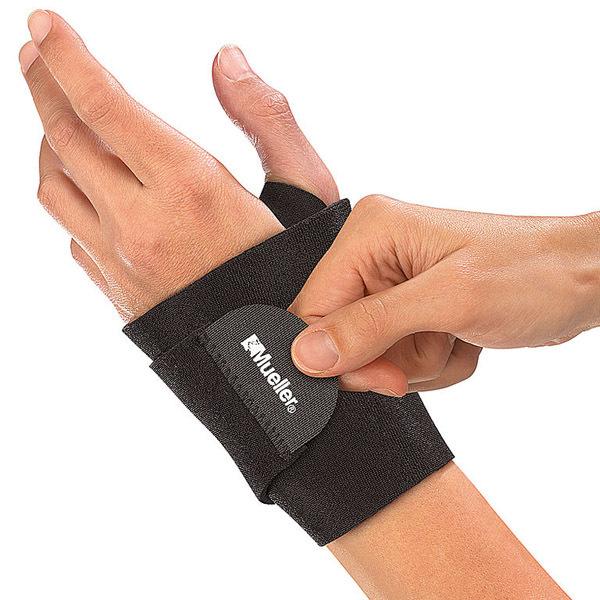 Код 4505 Неопреновая поддерживающая повязка на запястье, подходит на обе руки (безразмерная), черная, 1 шт.